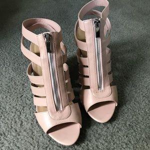 Blush Pink Wedge Sandal